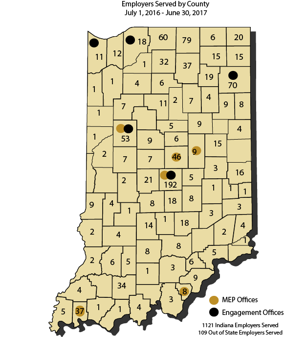 Indiana Congressional Districts Map with Impact